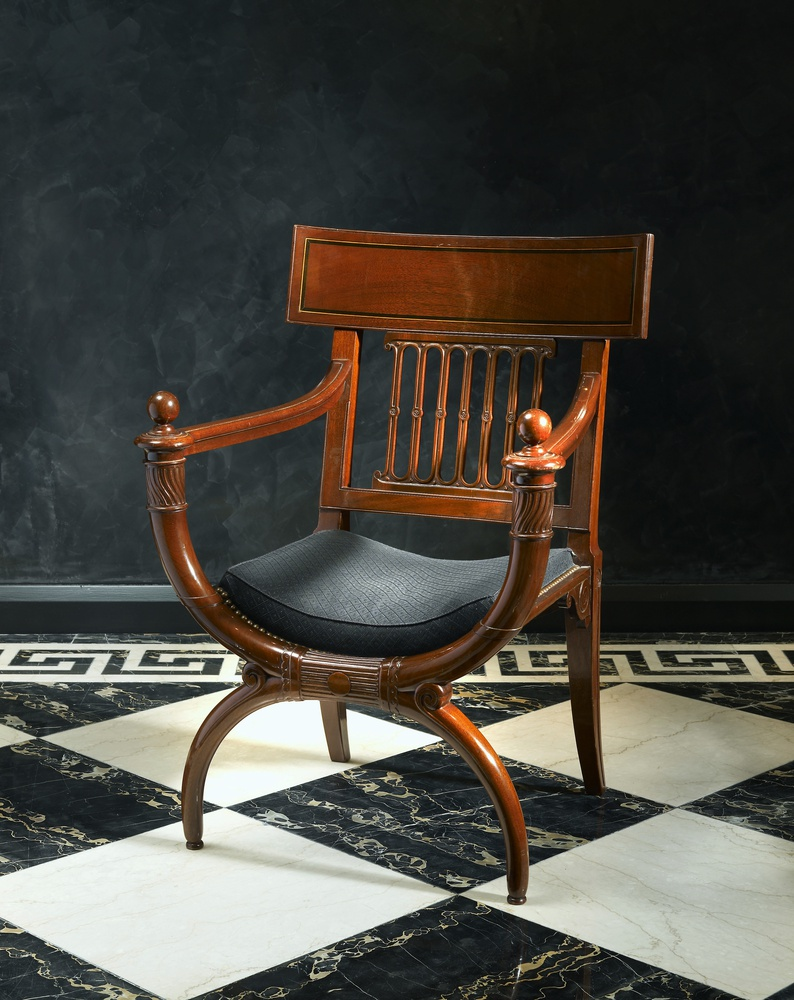 georges jacob attributed to a directoire fauteuil. Black Bedroom Furniture Sets. Home Design Ideas