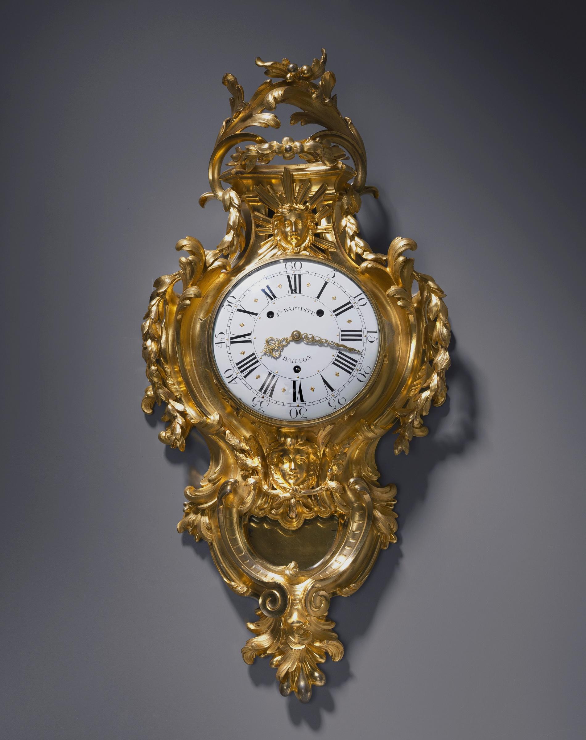 Jean Baptiste Baillon III A Louis XV cartel clock by Jean Baptiste