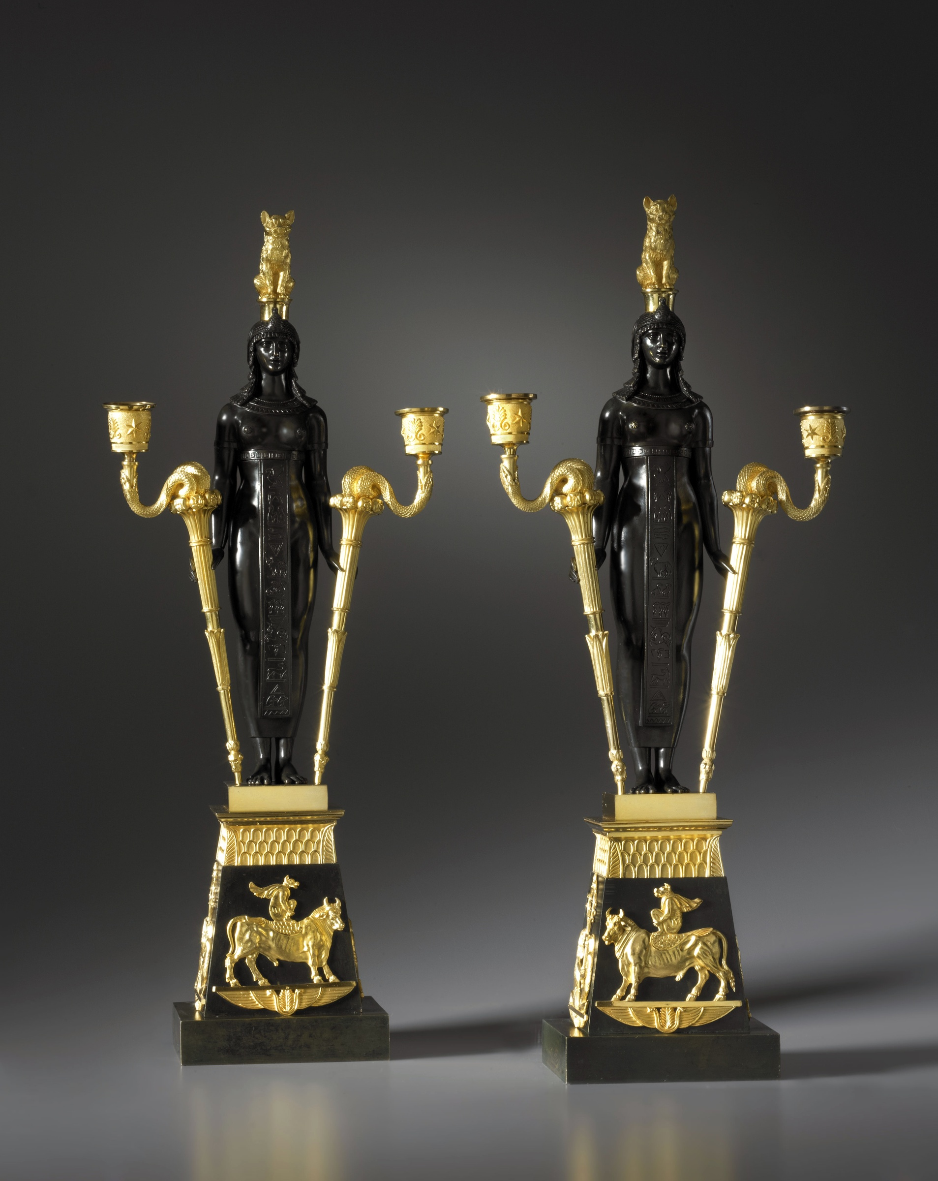 pierre philippe thomire attributed to a pair of empire. Black Bedroom Furniture Sets. Home Design Ideas