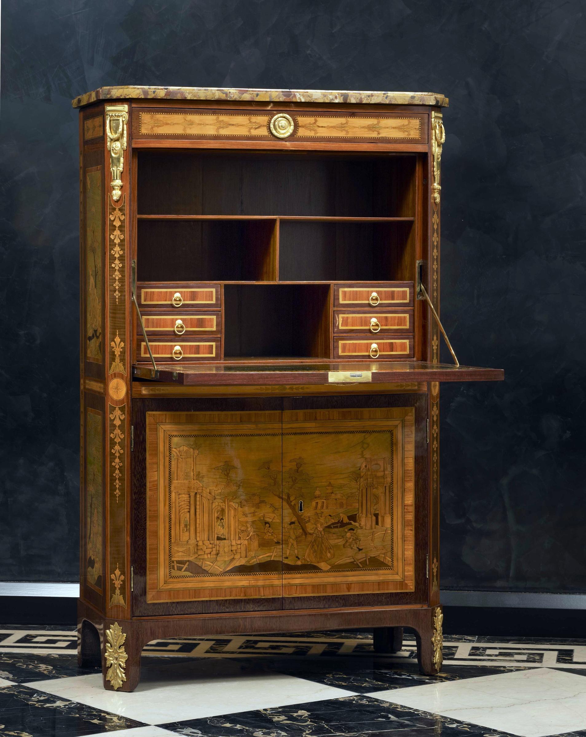 nicolas petit a louis xvi secr taire abattant by nicolas petit paris date crca 1775. Black Bedroom Furniture Sets. Home Design Ideas