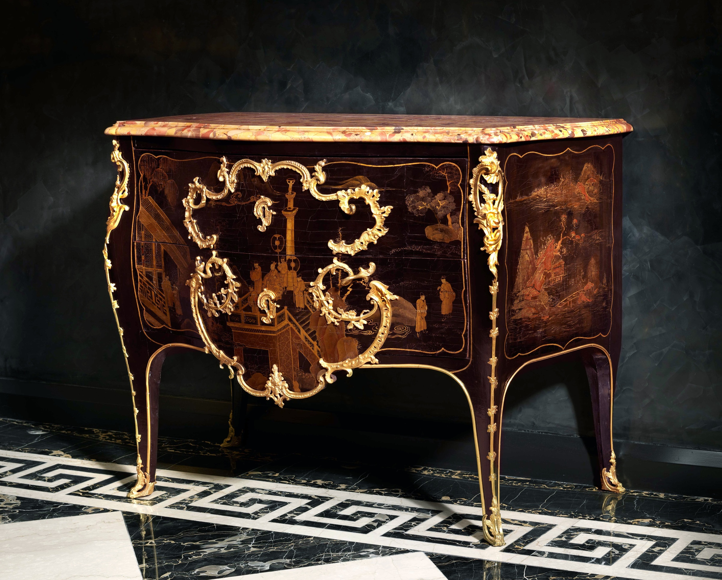 Jacques dubois a louis xv commode by jacques dubois paris date