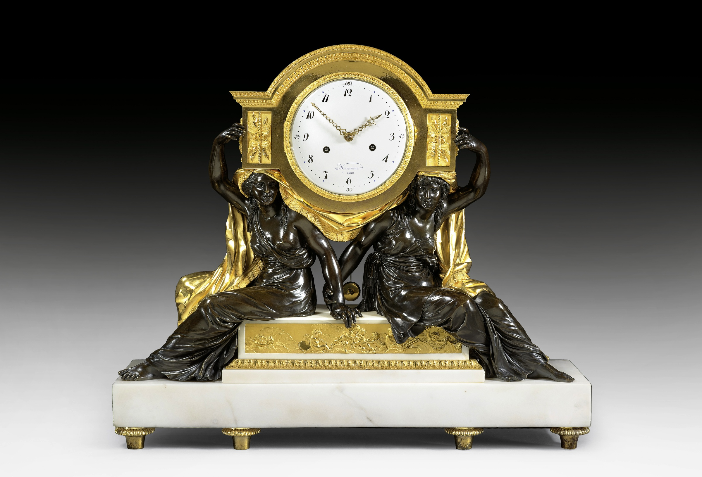 Charles Guillaume Mani¨re A late Louis XVI mantel clock movement