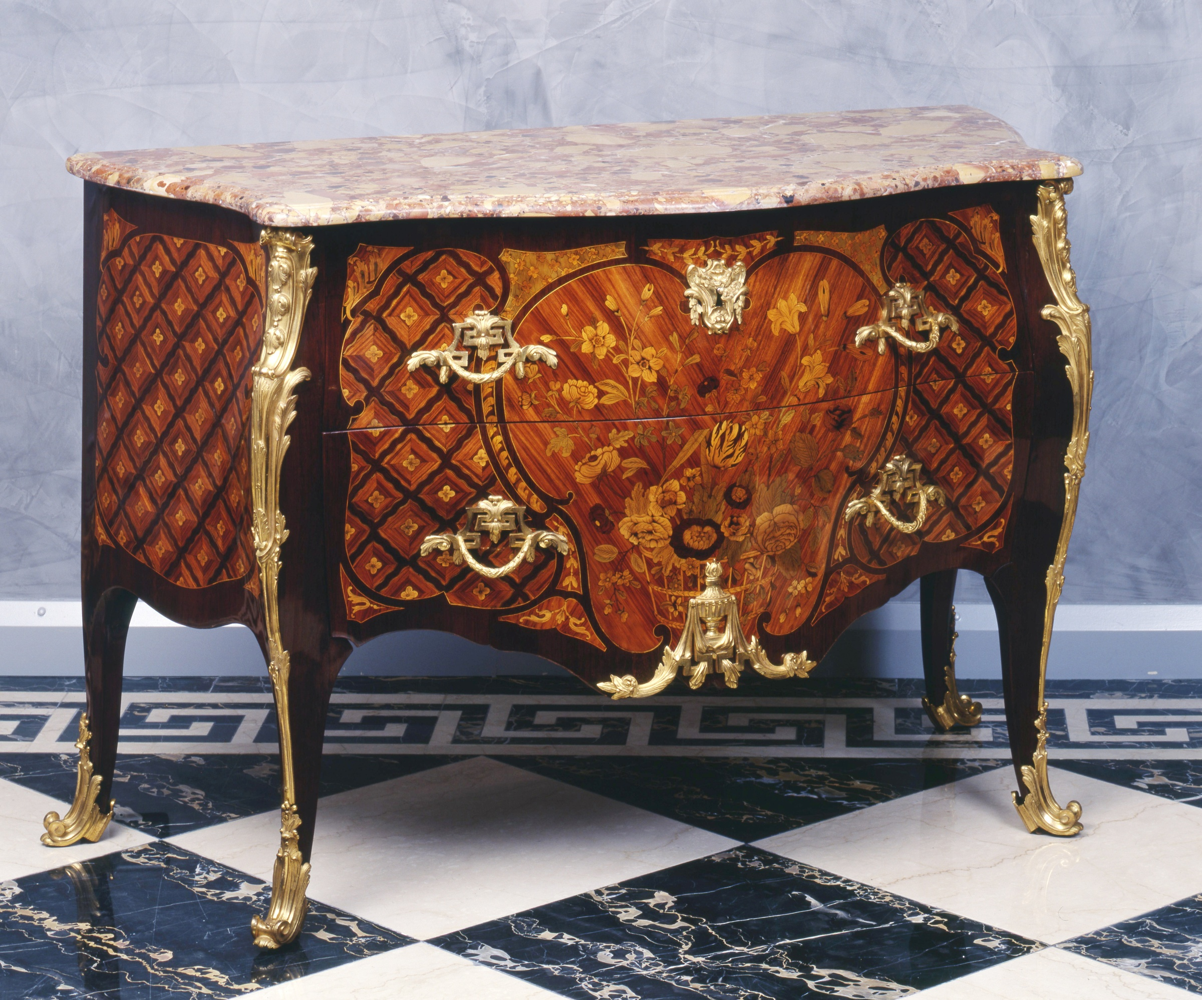 charles michel cochois a louis xv transition louis xvi commode