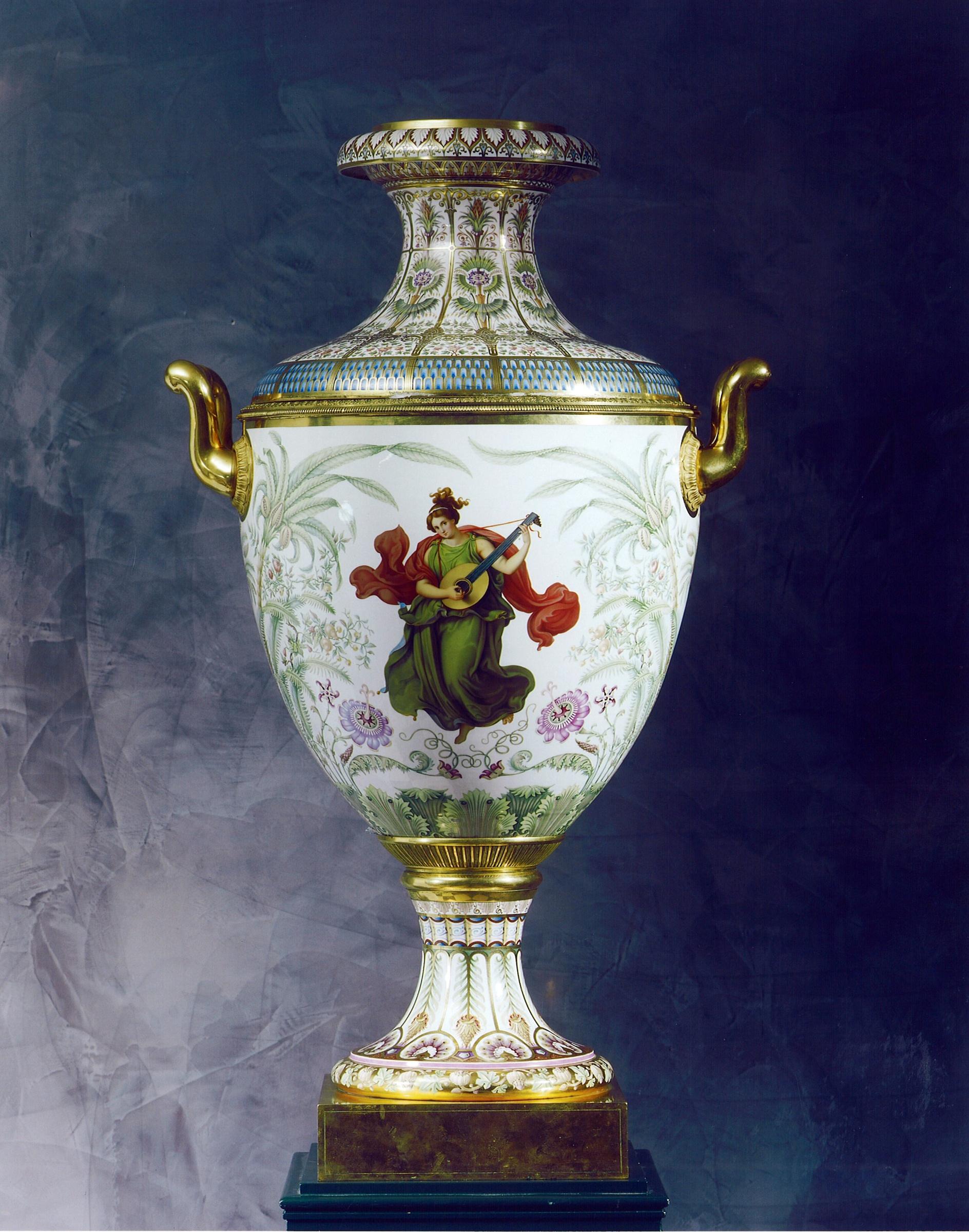 k p m k nigliche porzellan manufaktur berlin a classical munich vase sorte no 4 made by the. Black Bedroom Furniture Sets. Home Design Ideas