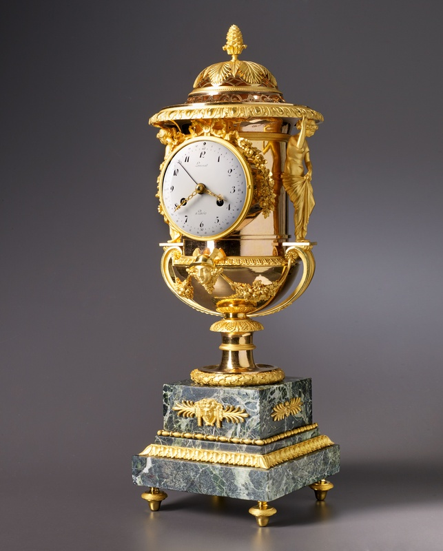 An Empire Medici vase-shaped mantel clock by Laurent à Paris housed in a case attributed to Pierre-Philippe Thomire, Paris, date circa 1810