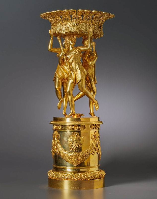 An Empire figural centrepiece by Pierre-Philippe Thomire , Paris, date circa 1815