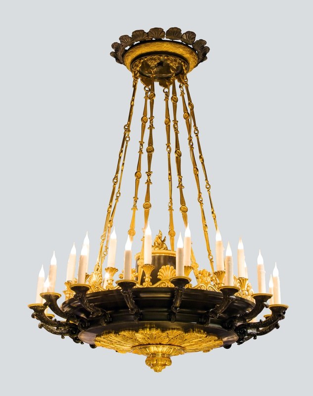 A Restauration thirty two lights chandelier, Paris, date circa 1820