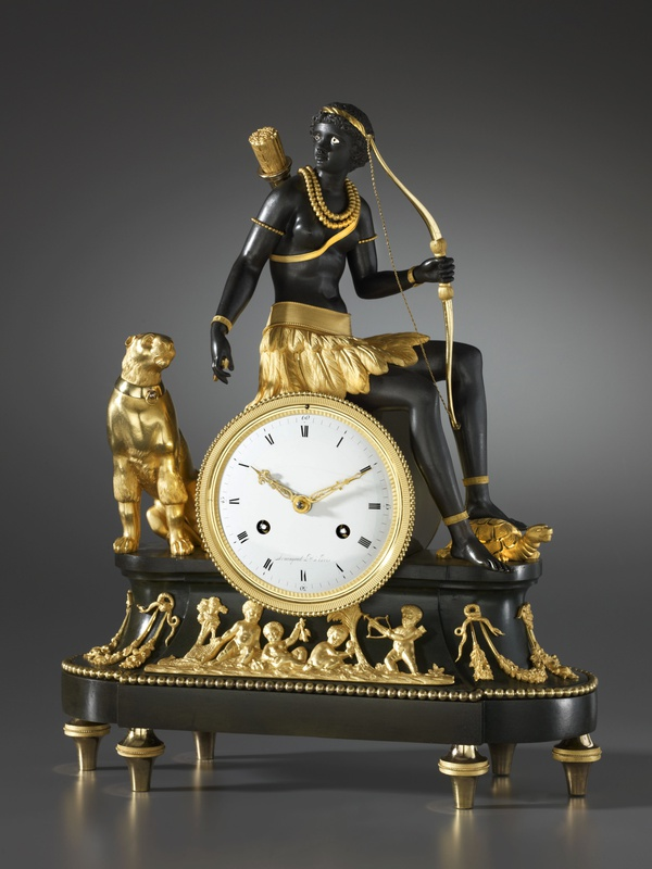 An Empire Pendule 'À L'Afrique' by Armingaud, case attributed to Jean-Simon Deverberie, Paris, date circa 1806