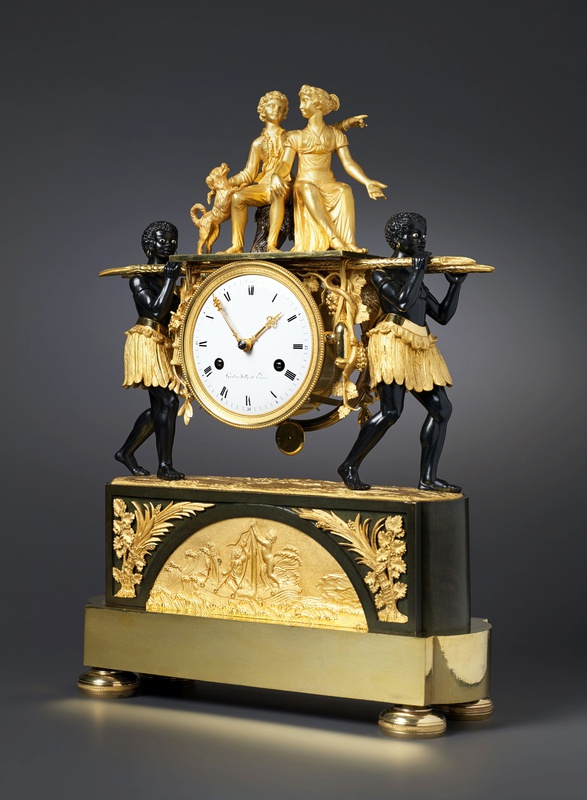 An Empire mantel clock of eight day duration by Pierre-Francois-Gaston Jolly, Paris, date circa 1800-05