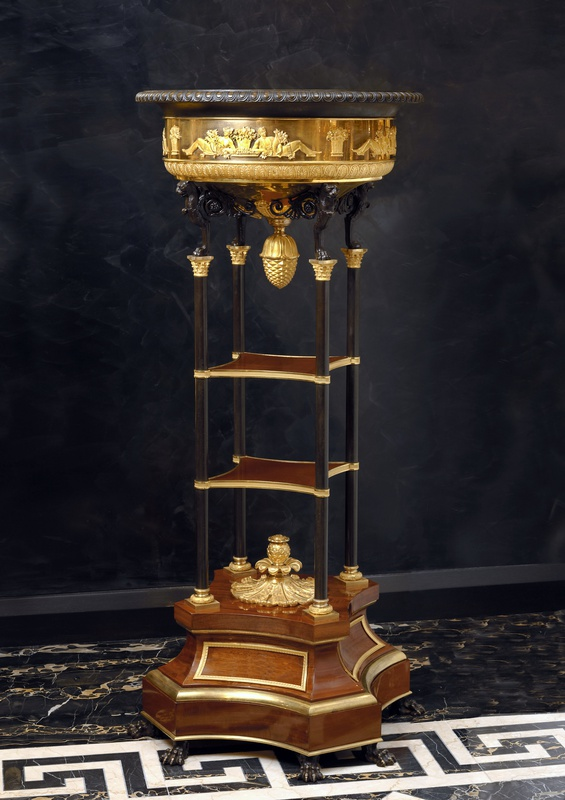 An Empire jardinière attributed to Jacob-Desmalter et Cie with mounts most probably by Pierre-Philippe Thomire, Paris, date circa 1810