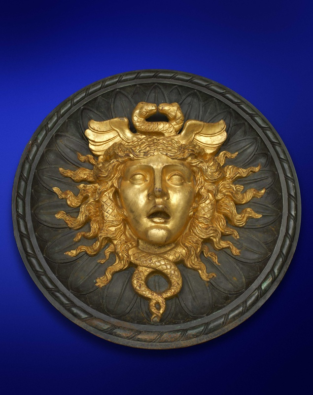 A Second Empire roundel Medusa mask, French, date circa 1870