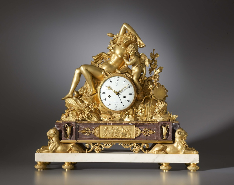 A Louis XVI mantel clock by Jean-Antoine Lépine, the case attributed to Pierre Philippe Thomire, Paris, date circa 1790