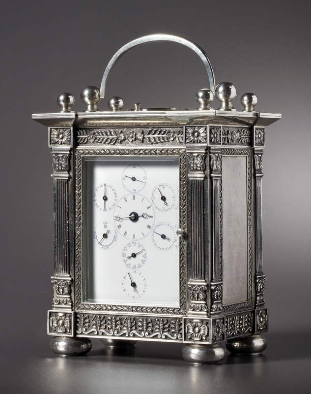 An astronomical carriage clock of eight day duration by Henri Moser, St. Petersburg, date circa 1840
