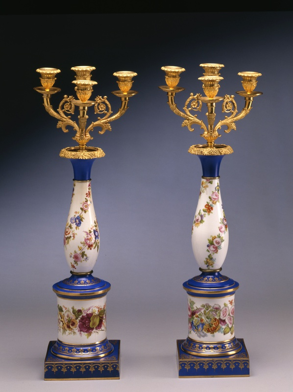 A pair of late Empire three-light candelabra, Paris, date circa 1825-30