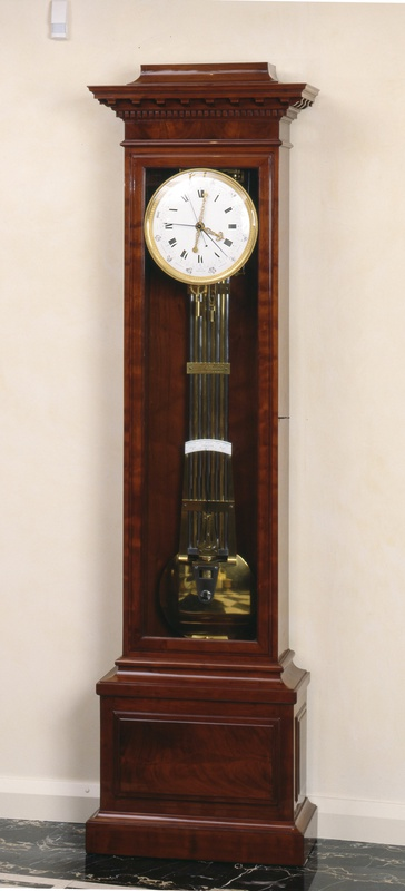 An Empire longcase regulator, with equation of time, year calendar and remontoire, by Louis Berthoud, Paris, dated 1811