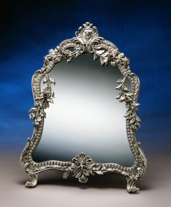 A French mirror in the Rococo manner by Jean-Baptiste-Gustave Odiot, Paris, date circa 1870