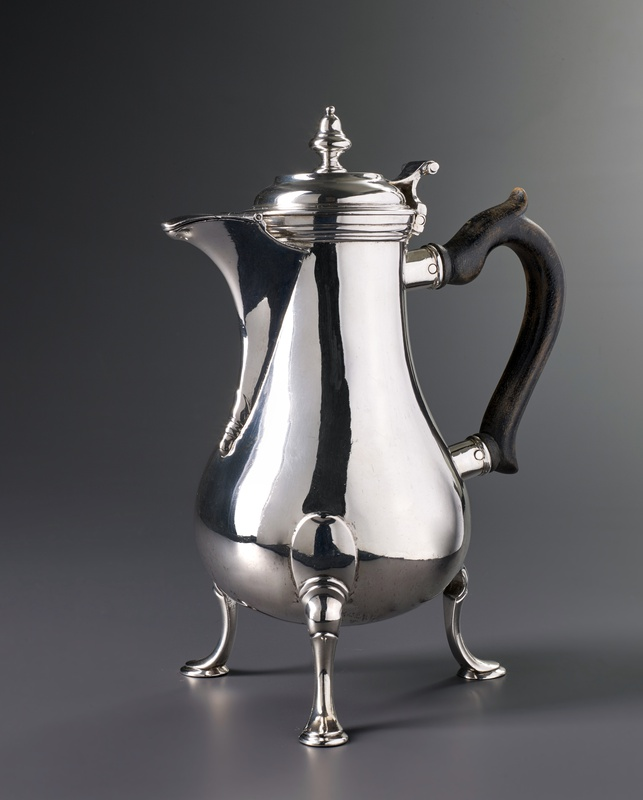 A Swiss coffee-pot by Louis Richard, Lausanne, date circa 1760