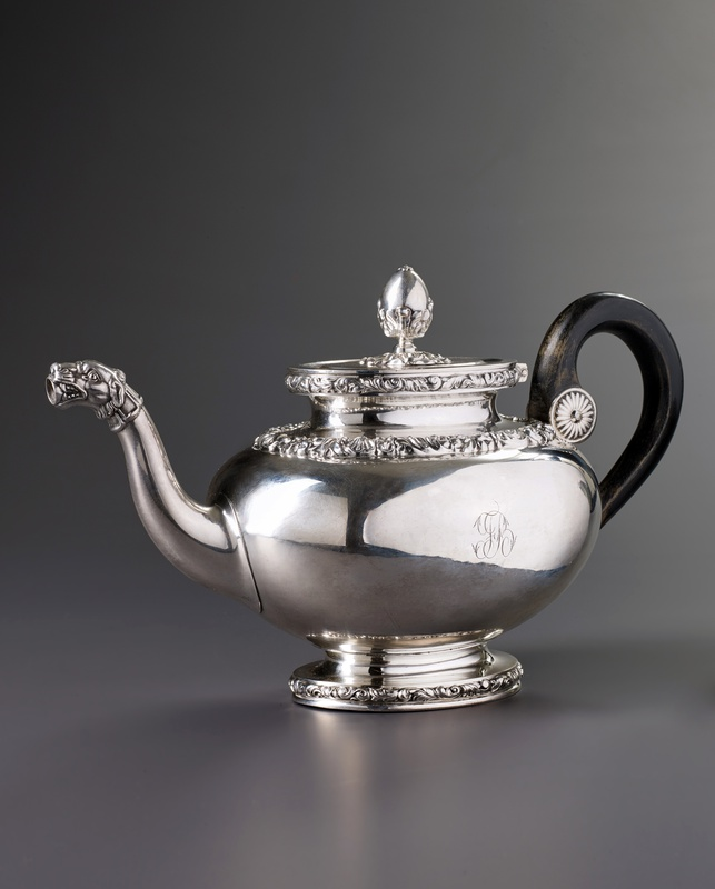 A Swiss tea pot, Lausanne, date circa 1830