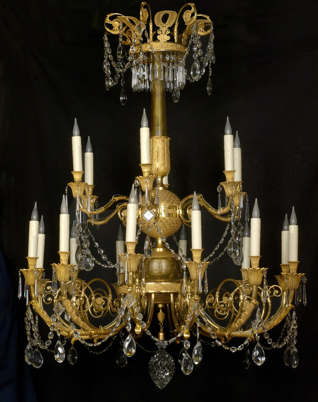 A late Empire eighteen-light chandelier, Paris, date circa 1820
