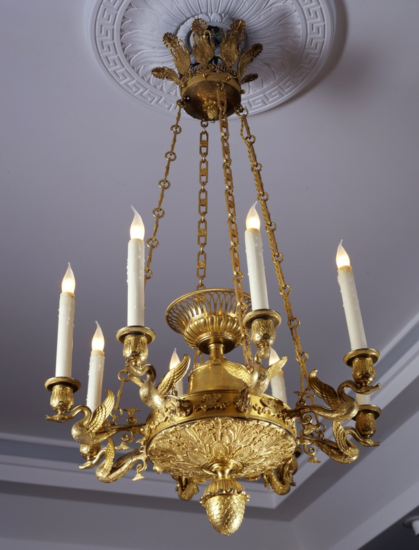 An Empire eight-light chandelier, Paris, date circa 1810