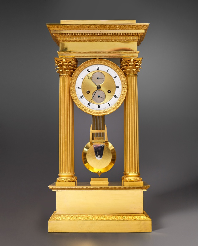 A late Empire table regulator by Comminges, Paris, circa 1820