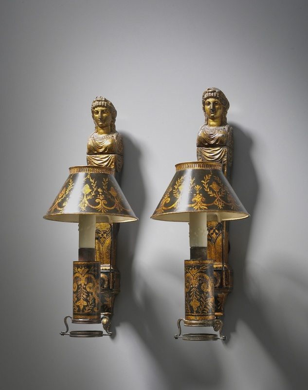 A pair of Directoire wall lights, Paris, date circa 1798