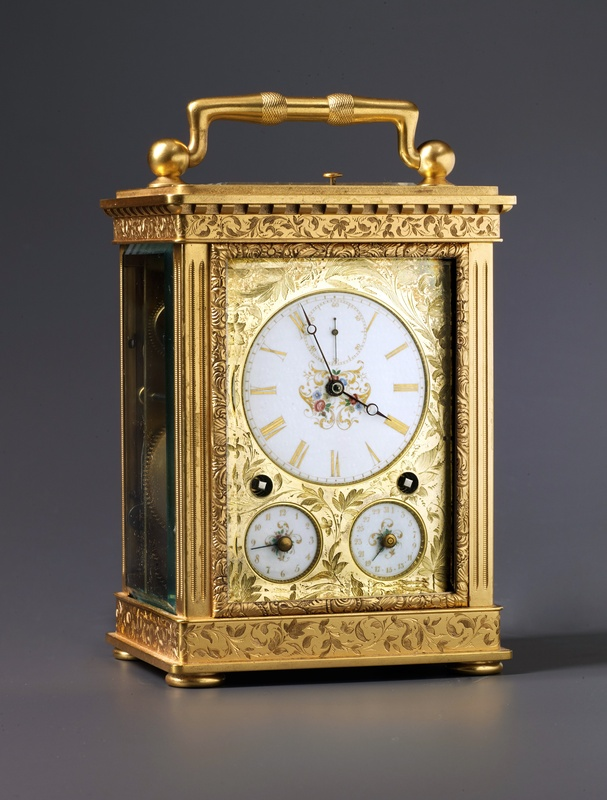 A Swiss Grande Sonnerie carriage clock, La Chaux-de-Fonds, date circa 1850