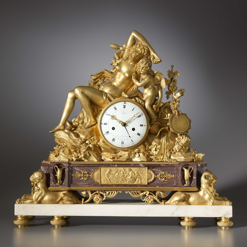 Jean-Antoine Lépine - A Louis XVI mantel clock by Jean-Antoine Lépine, the case attributed to Pierre Philippe Thomire, Paris, date circa 1790
