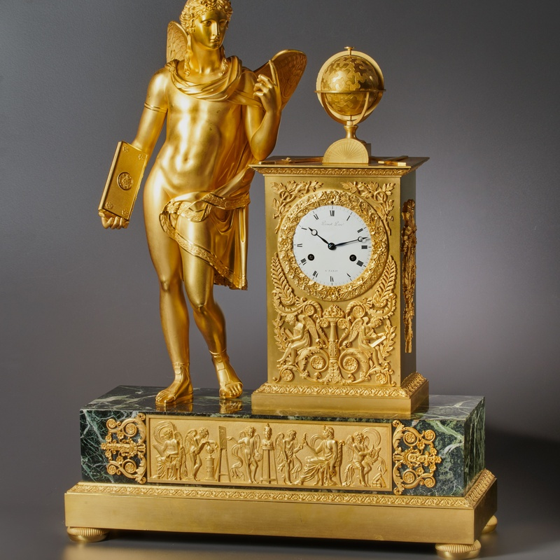 Picnot Père - An Empire figural clock, by Picnot Père , Paris, date 1805-10