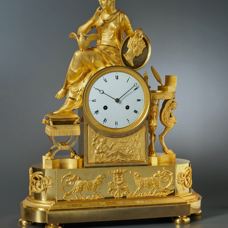 François-Louis Savart (attributed to) - An Empire mantel clock of eight day duration housed in a case attributed to François-Louis Savart, Paris, date circa 1810