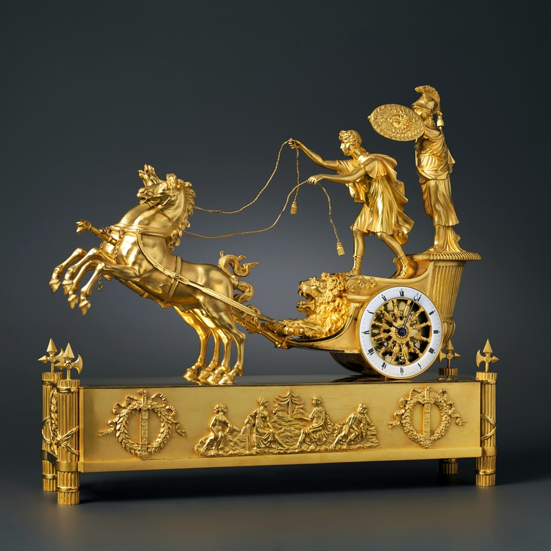Jean-André Reiche (attributed to) - An Empire chariot clock, attributed to Jean-André Reiche, Paris, date circa 1805-10