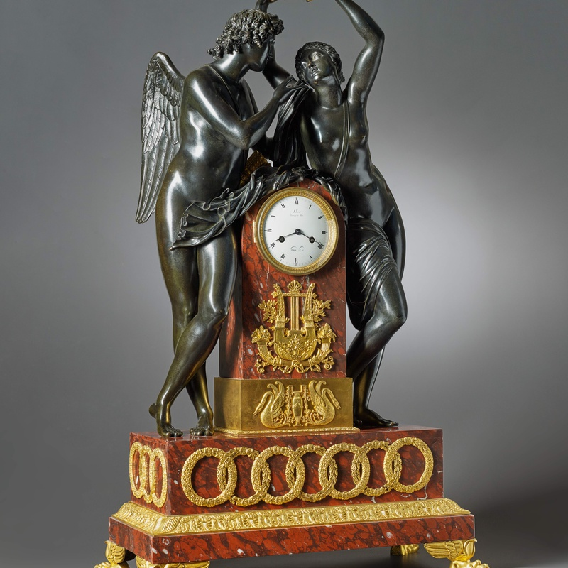 Claude Hémon - An Empire figural clock by Claude Hémon