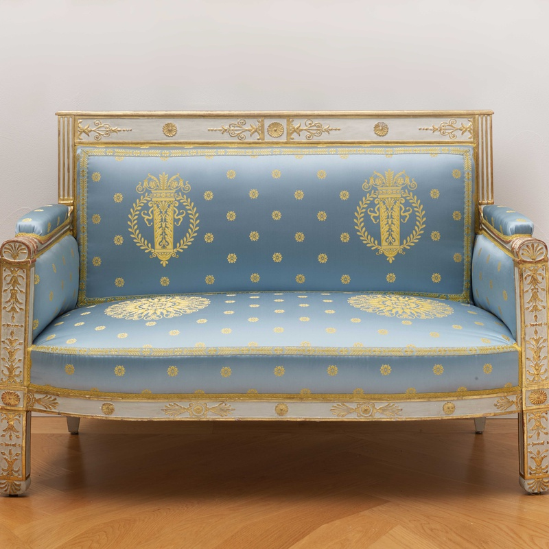 Pierre-Gaston Brion (attributed to) - A set of Empire furniture comprising a canapé, two fauteuils and two side chairs attributed to Pierre-Gaston Brion