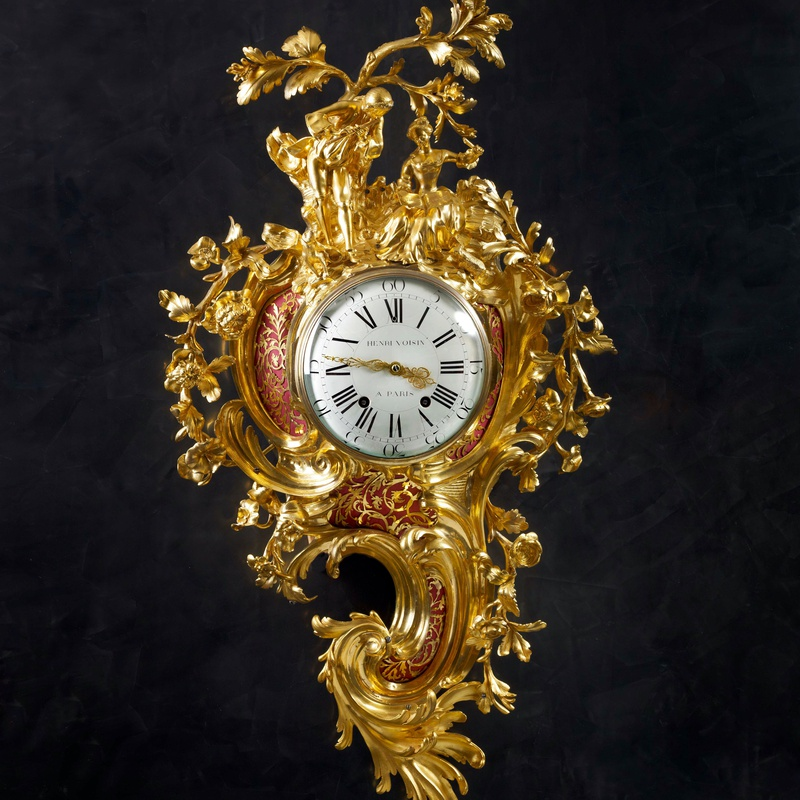 Henri Voisin - A Louis XV grand cartel clock by Henri Voisin, case attributed to Jean-Joseph de Saint-Germain