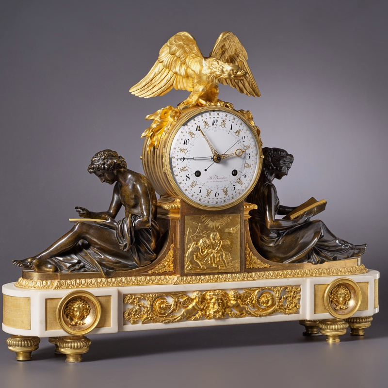 Jean-Simon Bourdier - A Louis XVI figural clock by Jean-Simon Bourdier, Paris, date circa 1790