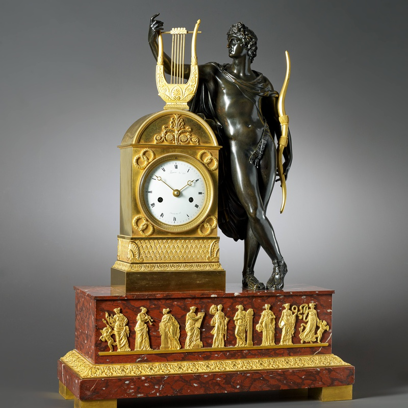 Louis Moinet - An Empire figural clock by Moinet