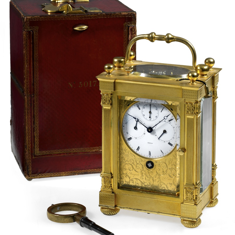 Breguet Neveu Compagnie - A large grande and petite sonnerie striking carriage clock by Breguet Neveu Compagnie à Paris