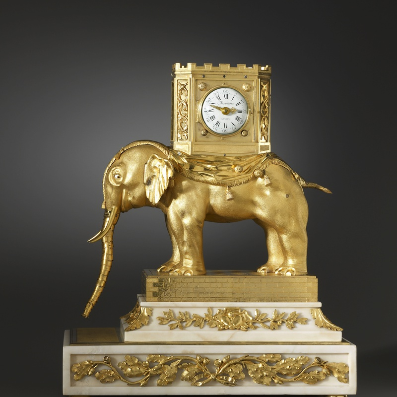 Hubert Martinet - A very important George III automaton elephant clock by Hubert Martinet