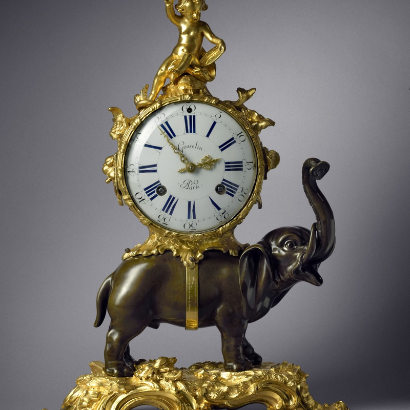 Gosselin - A Louis XV Pendule 'À L'Éléphant' by Gosselin case by Jean-Joseph de Saint-Germain