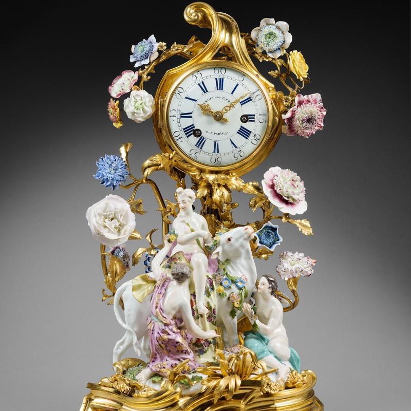 "Gérard Benoît - A Louis XV mantel clock ""Europa and the Bull"" by Gérard Benoît"