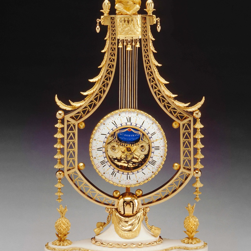 Joseph-Charles-Paul Bertrand - A Louis XVI figural lyre clock of eight day duration by Joseph-Charles-Paul Bertrand