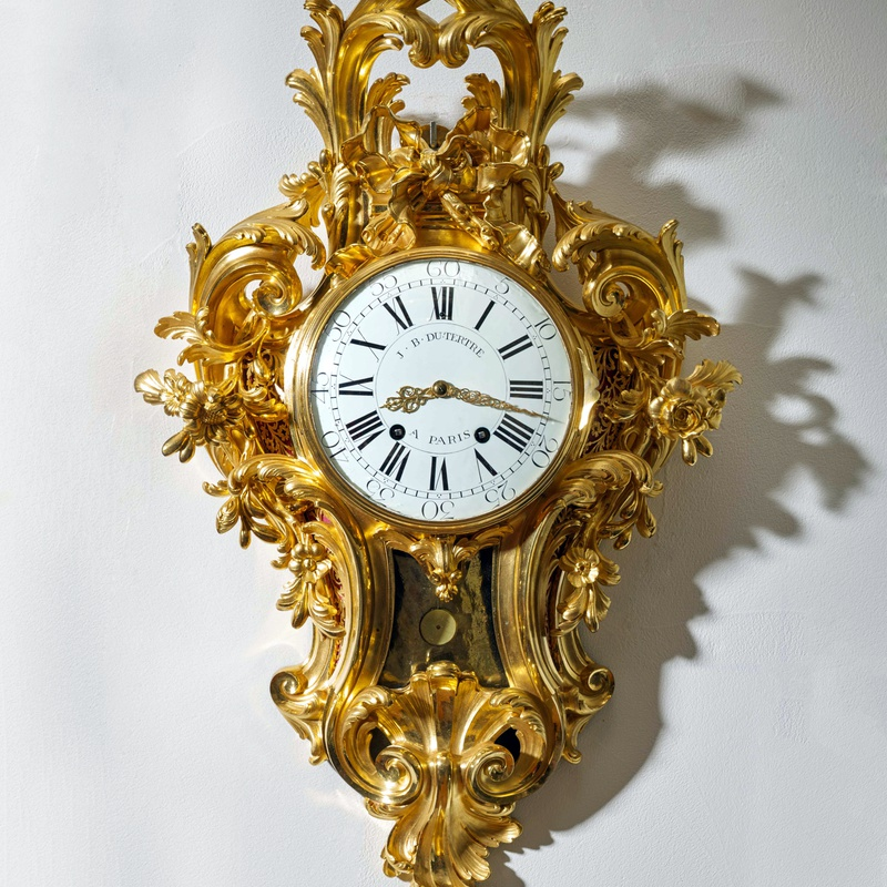 Jean-Baptiste II Dutertre - A Louis XV cartel clock of month duration by Jean-Baptiste II Dutertre