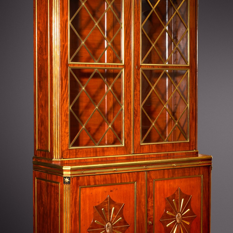 Christian Meyer (attributed to) - A late eighteenth century Russian Jacob Style bureau bookcase attributed to Christian Meyer
