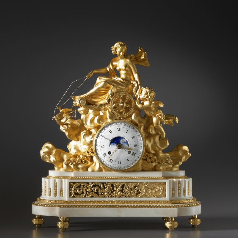 Georges-Adrien Merlet - A Louis XVI mantel clock with an astronomical movement, by Georges-Adrien Merlet