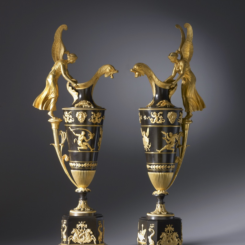 Claude Galle - A pair of Empire ewers by Claude Galle