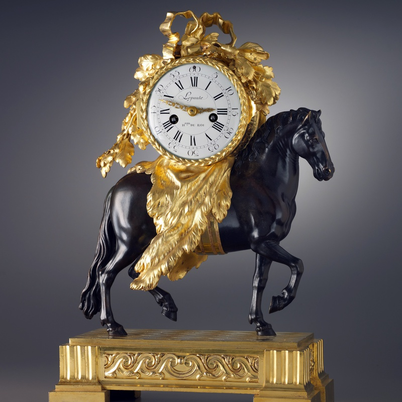 Lepaute - A Louis XVI pendule 'Au Cheval' by Lepaute, the case attributed to Fançois Vion