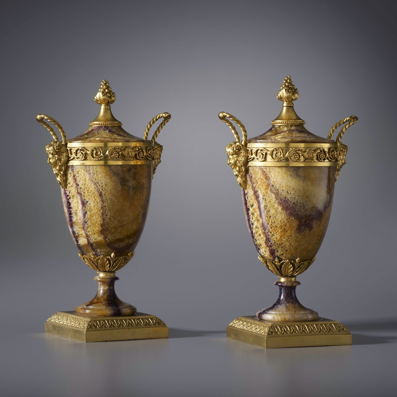 Matthew Boulton (attributed to) - A pair of Georgian covered vases attributed to Matthew Boulton