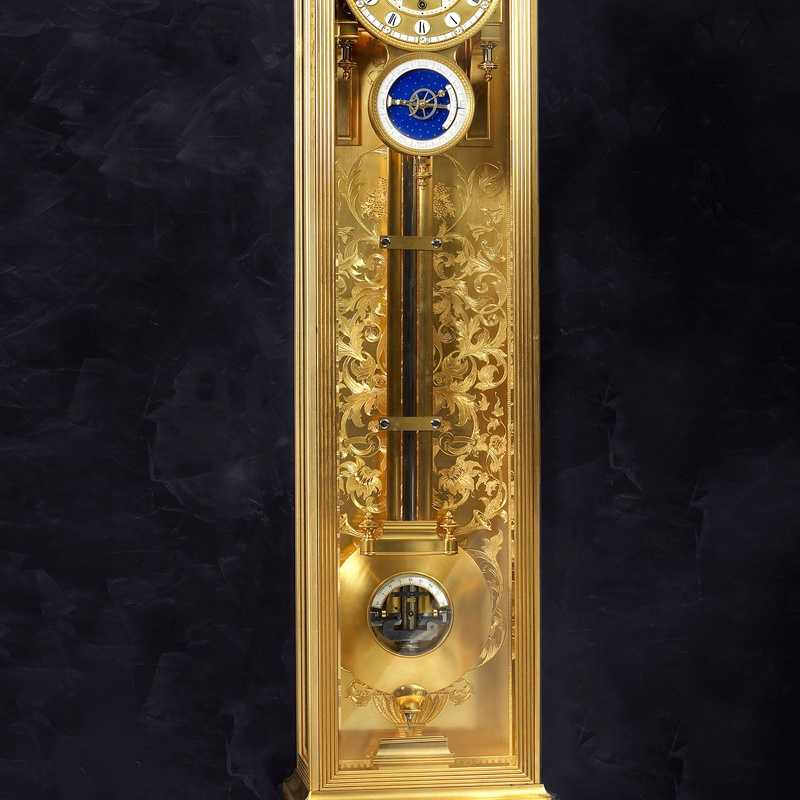 Louis-Constantin Detouche - A Second Empire astronomical wall regulator by Louis-Constantin Detouche , Paris, date circa 1855-60