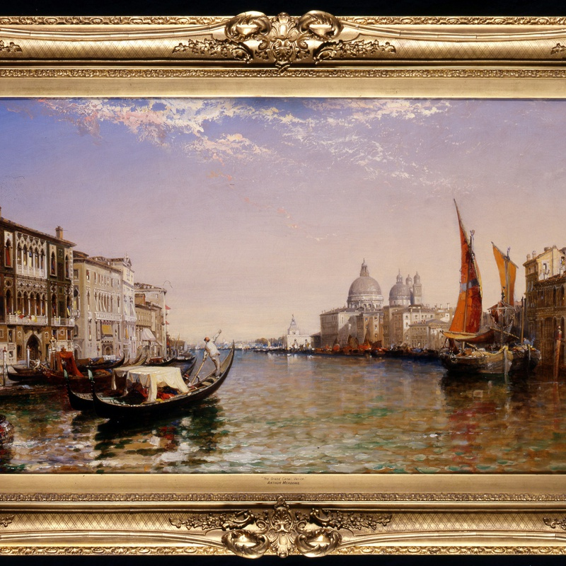 "Arthur Joseph Meadows (1843-1907) - ""The Grand Canal, Venice"" by Arthur Joseph Meadows"