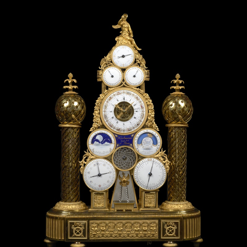 François -Joseph Hartmann - A Republican multi-dial automata clock conceived and made by François -Joseph Hartmann